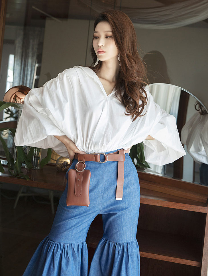 S332 Gracia Puff Volume Shirt