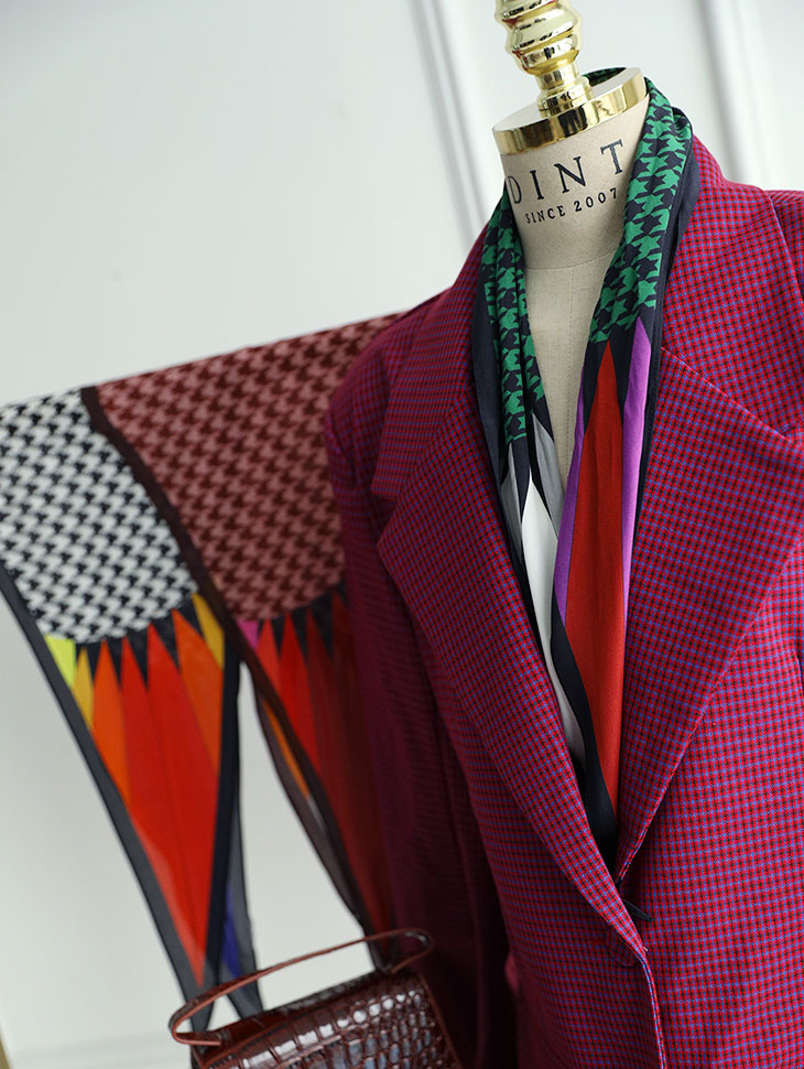 AS-1391 Benica Pattern Point Scarf