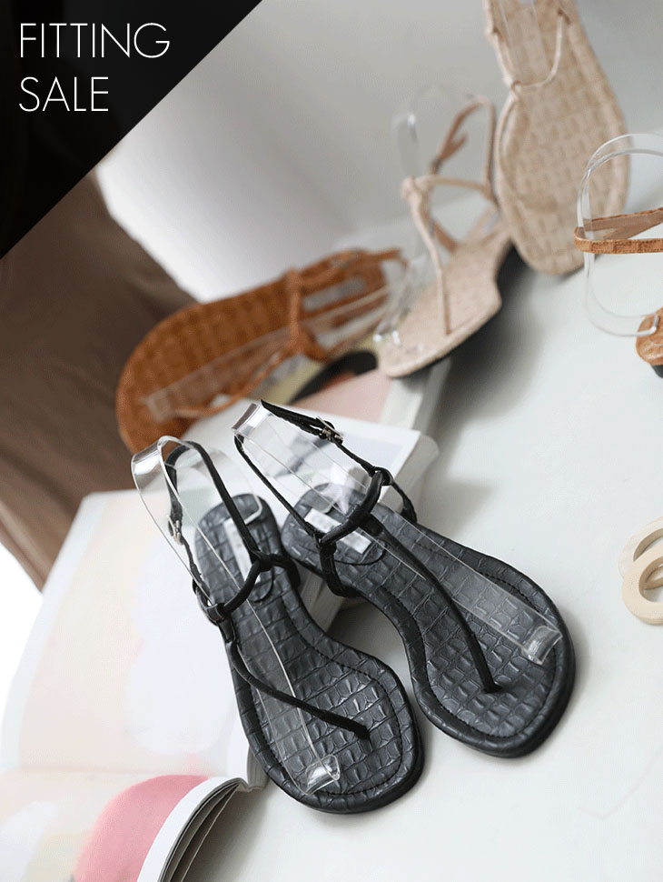 PS1671 Wood Design Flip-Flop Sandals * Fitting Sale *