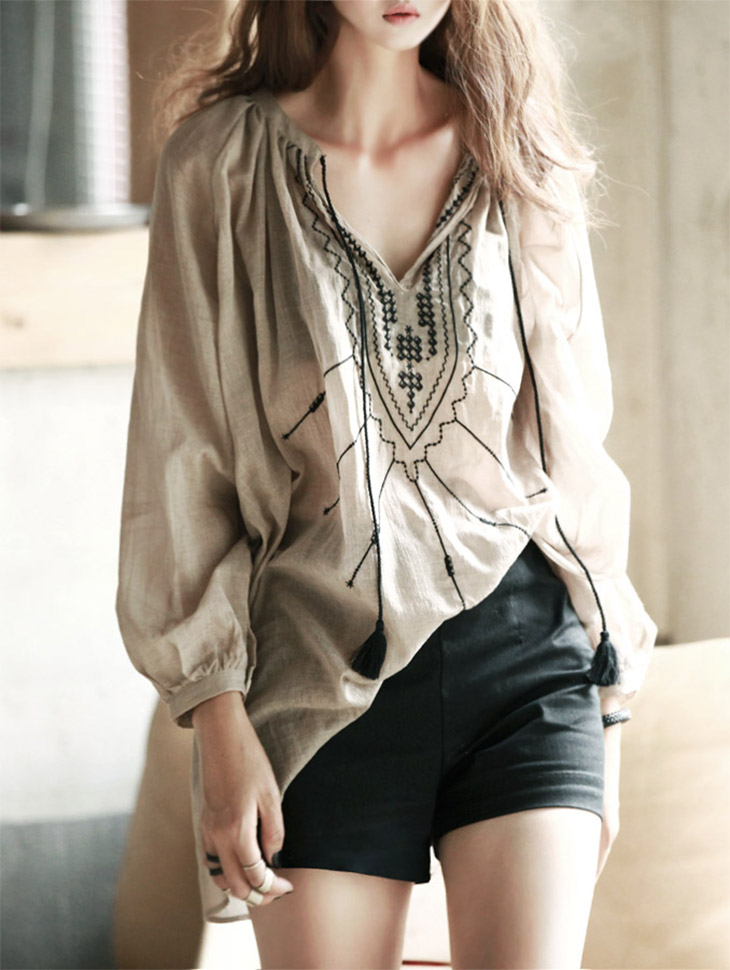 B1511 Rachel embroidery Blouse (184th REORDER)