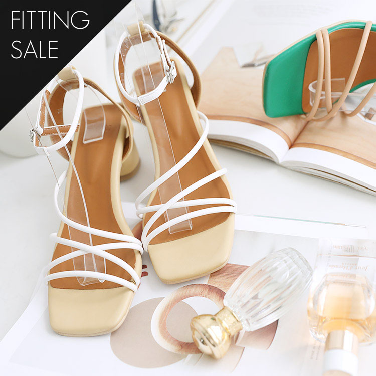 PS1668 Tiam Double Strap Middle heel * Fitting Sale *