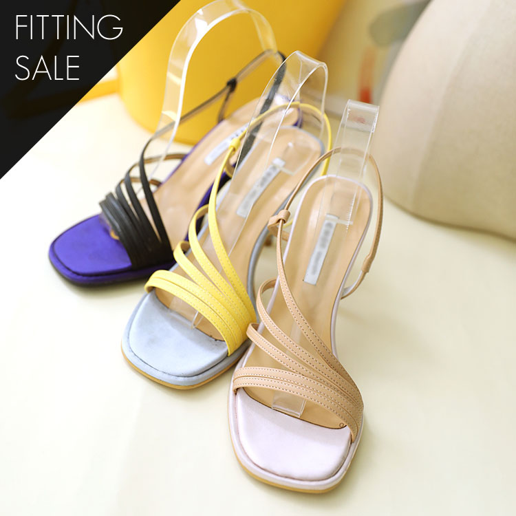 PS1670 Twelve Strap Heels * Fitting Sale *