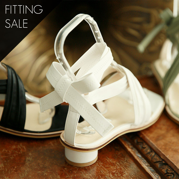 PS1672 wide Strap lace-up shoes * fitting sale *