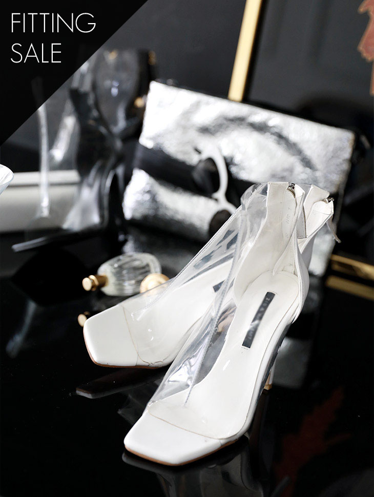 PS1678 Jolly Open Toe PVC High heels * Fitting Sale *