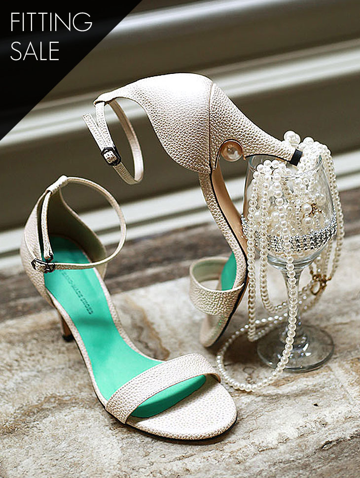 PS1684 Hidden Pearl Ankle Strap Heel