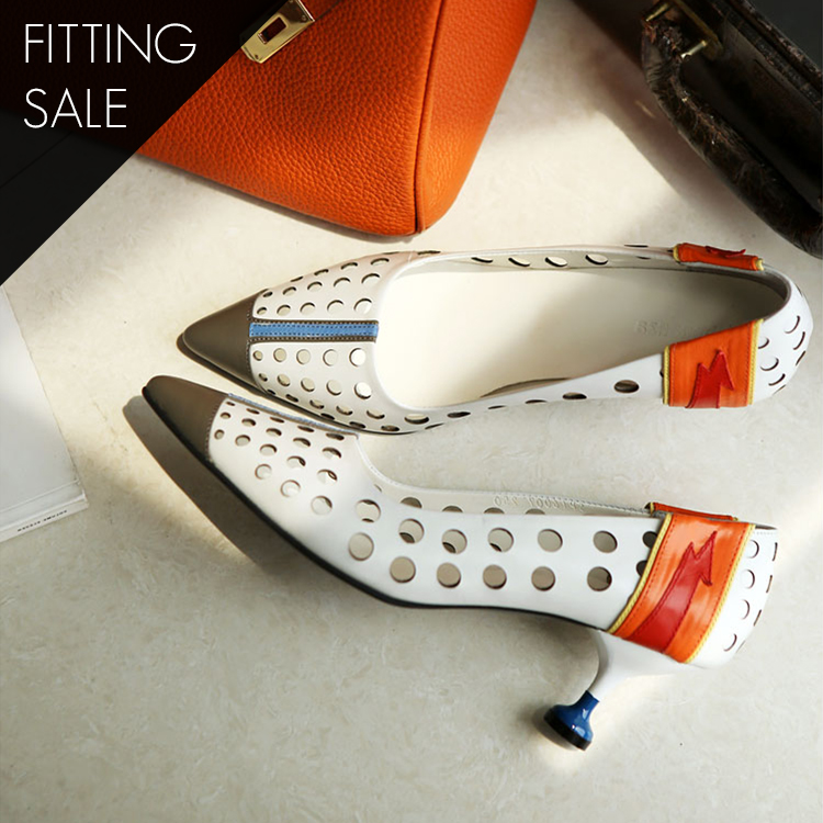 PS1690 Punching Point Pump Heels * HAND MADE * Fitting Sale *