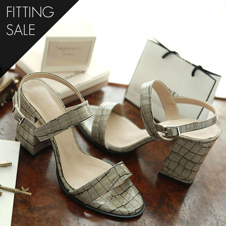 PS1691 Gray sander platform heel * HAND MADE * fitting sale *