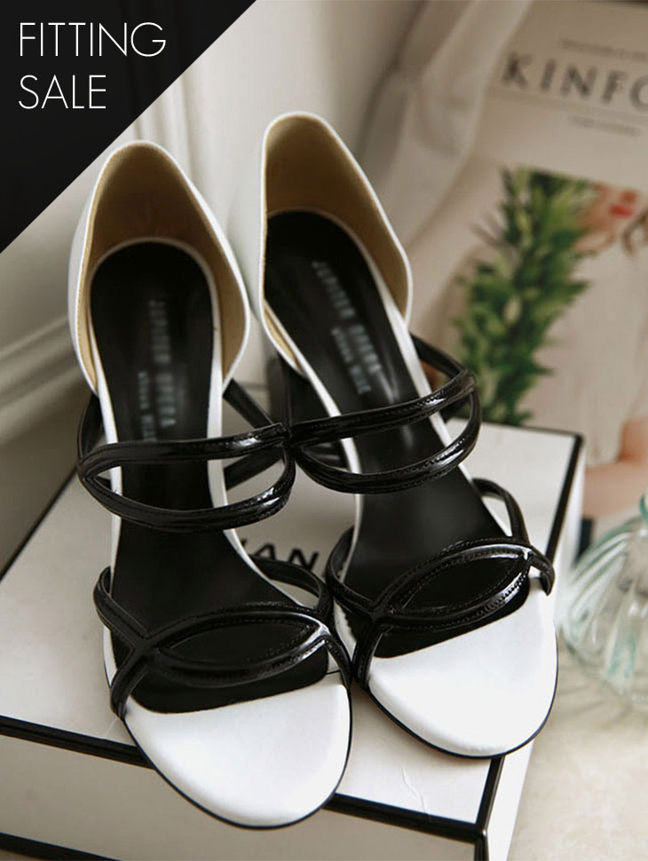 PS1685 slimming cross Strap heel * HAND MADE * fitting sale *