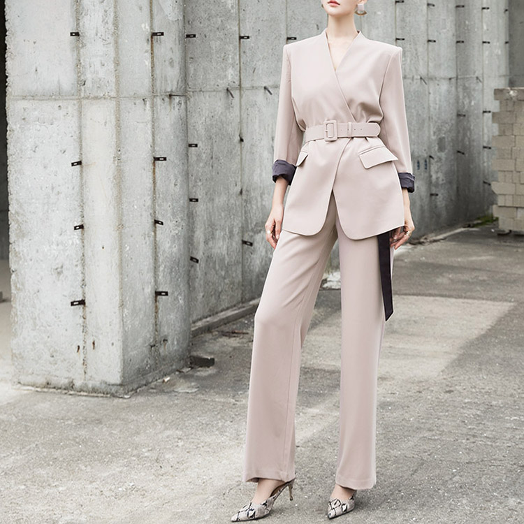 P2148 Benen Long Banding Pants (Belt set)