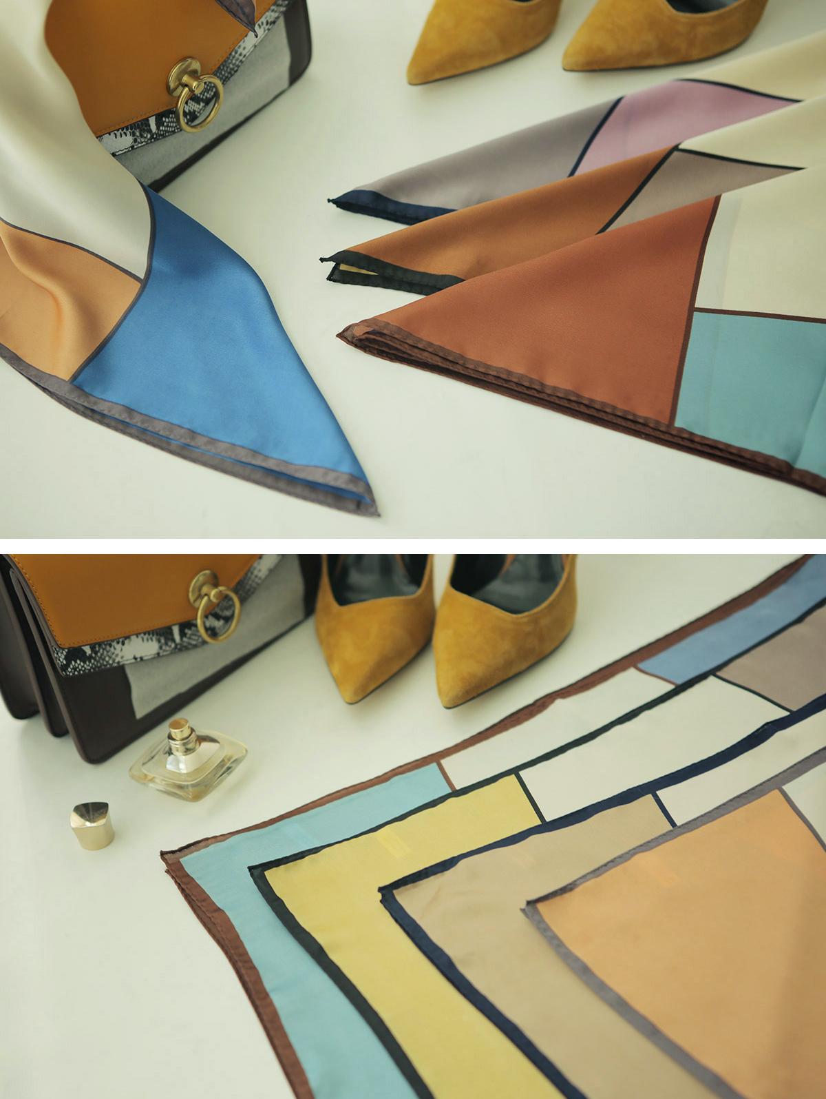 AS-1353 Trio Color color combination scarf