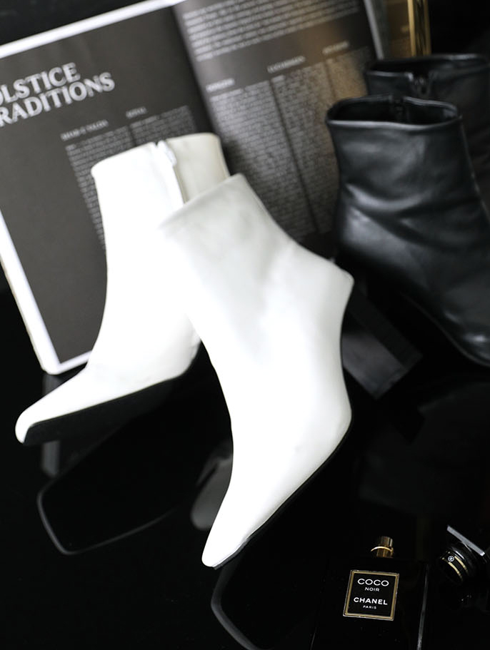 AR-2377 Tony Square Ankle Boots Heel