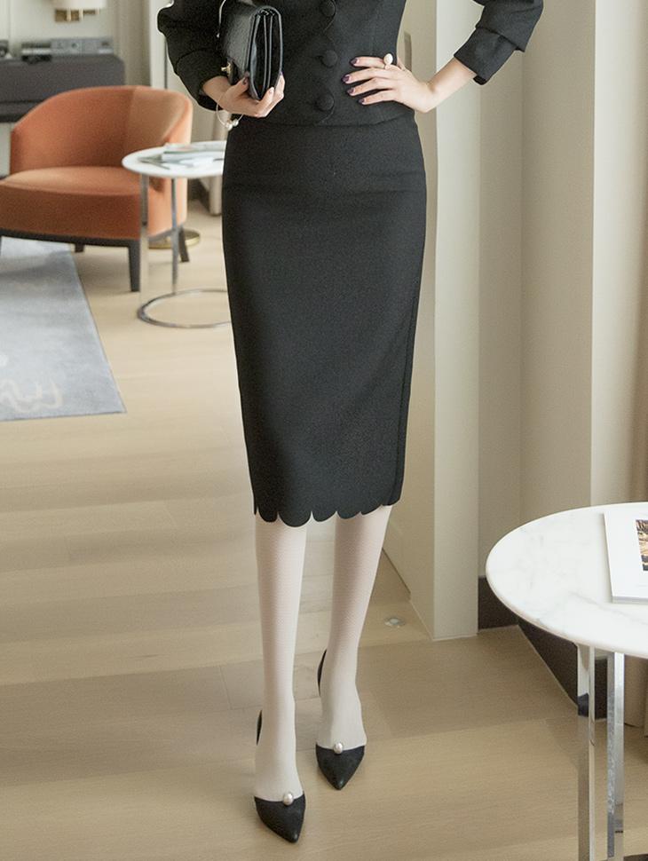 SK9001 Wave cutting Slim Skirt