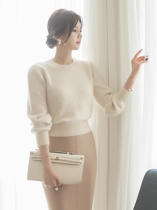 E2063 Stan angora Knit Top (3rd REORDER)