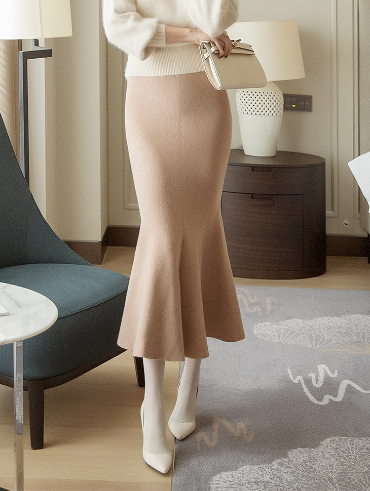 SK1961 Soft Line Mermaid Knit Skirt (9th REORDER)