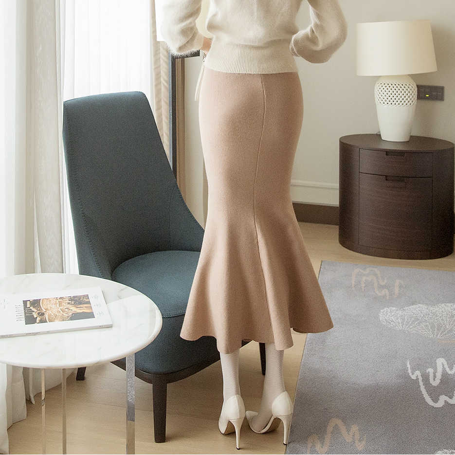 SK1961 Soft Line Mermaid Knit Skirt (15th REORDER)