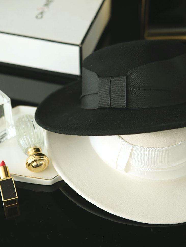 AC-576 Pyrenees ribbon wool Fedora Hat
