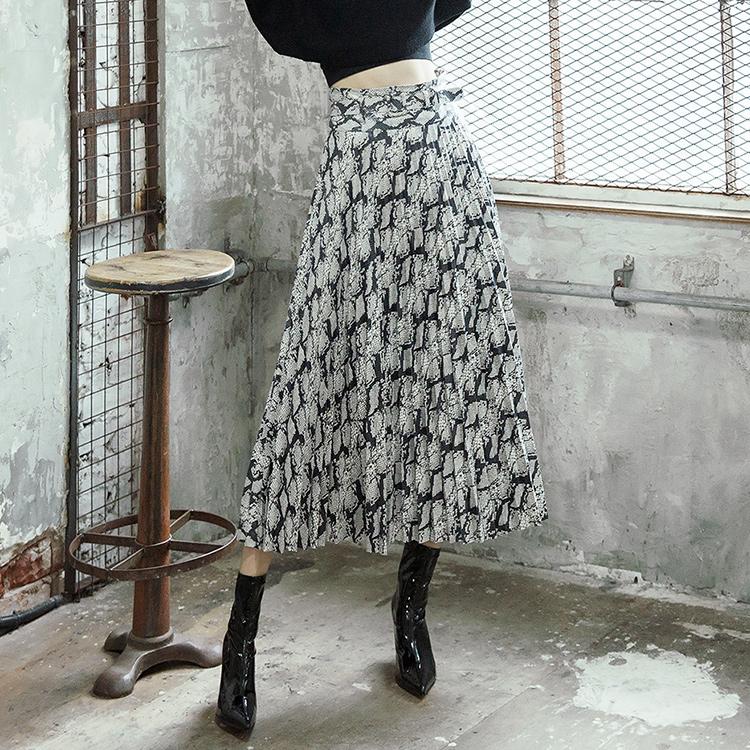 SK1970 Lua Phyton pleats Skirt (Belt set)