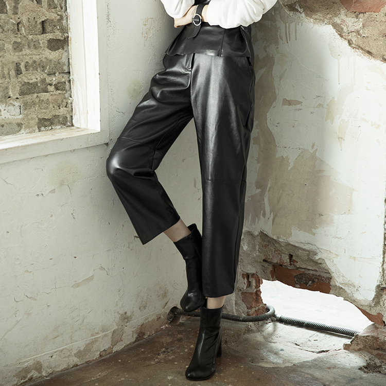 P2169 Lawson wide Leather Pants (3rd REORDER)