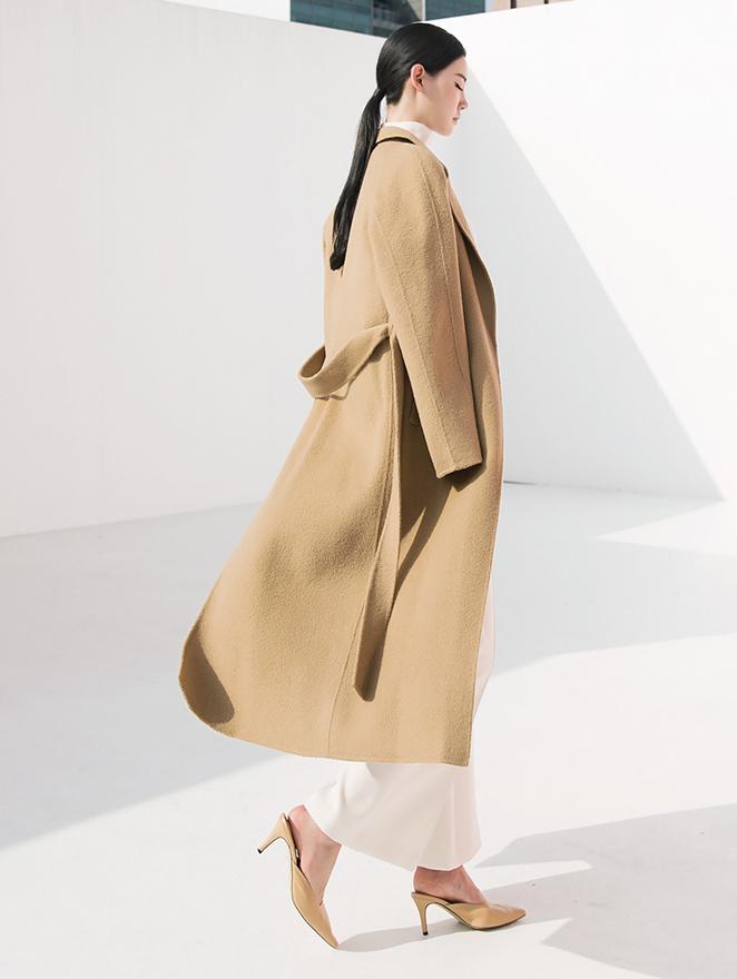 J788 Formal Line Alpaca wool Coat (Belt  set) * HAND MADE *