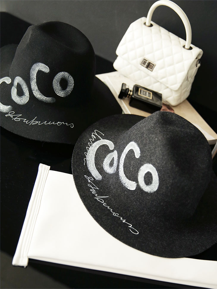AC-574 Hand Lettering Fedora wool Hat