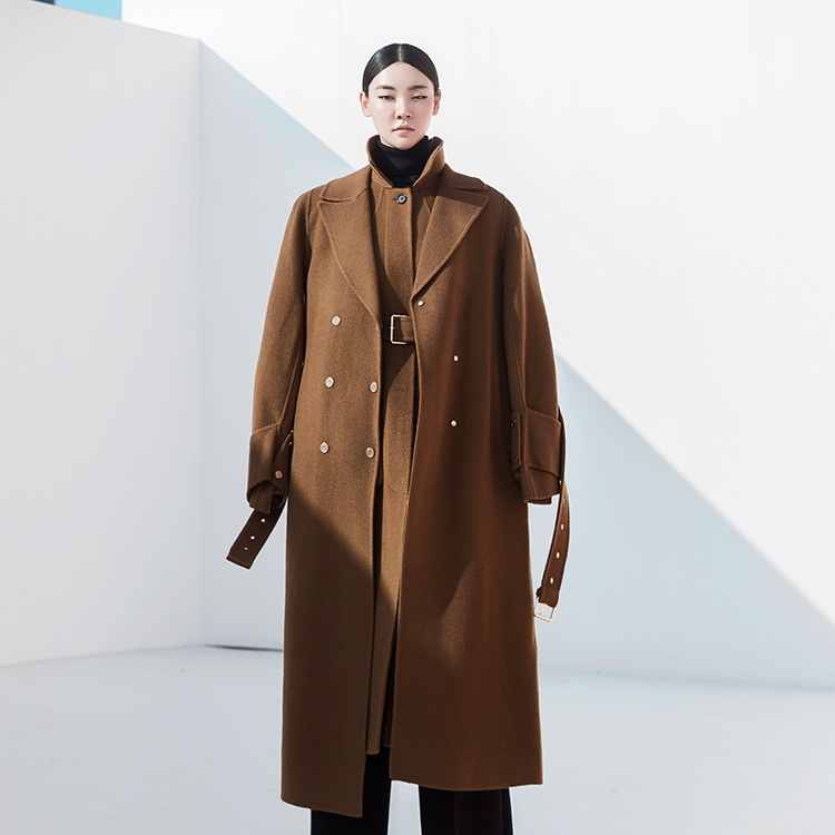J789 cayenne Gold point wool Coat (Belt set) * HAND MADE *