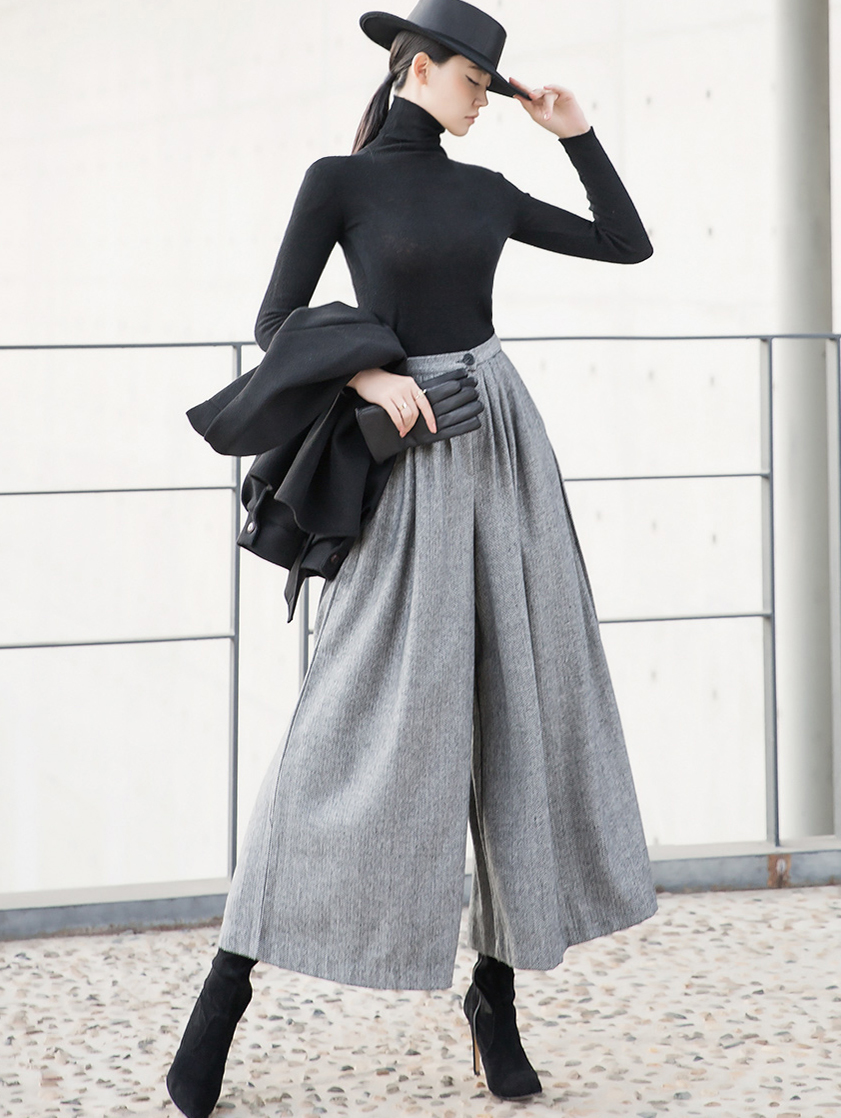 P2179 with herringbone wide Pants * L size production * (12th referer)