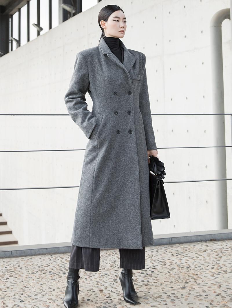 J833 Cons Double Maxi wool Coat (Belt set)