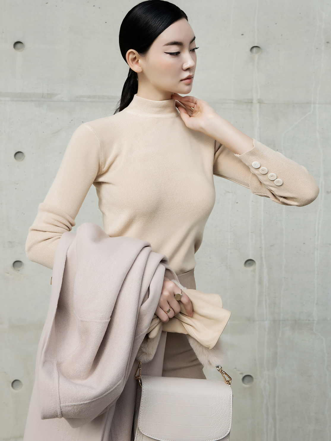 E2101 Meridian turtleneck Top (9th REORDER)