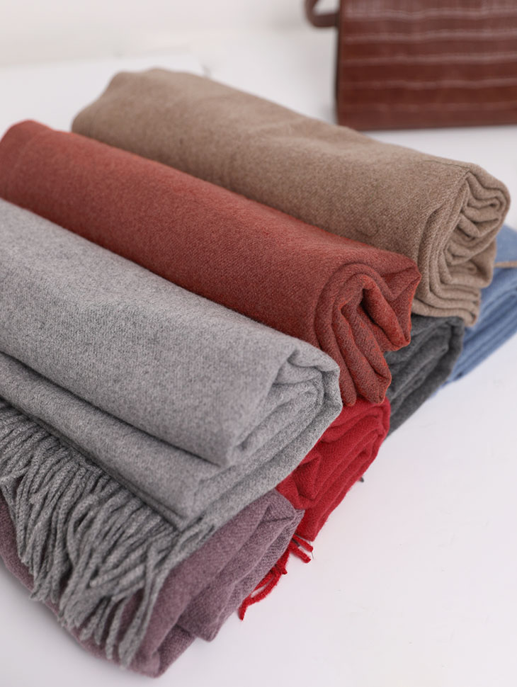 AS-1423 Rishaw Wool Cash Fringe Muffler