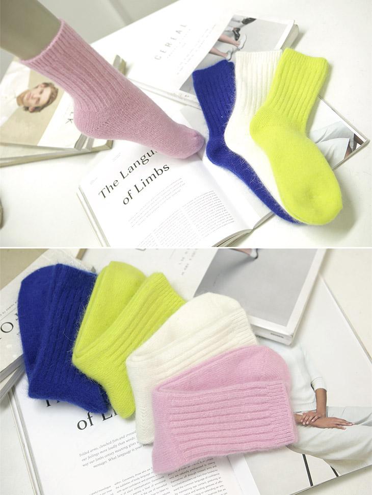 RE-187 Maybin angora corduroy socks