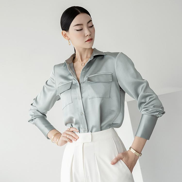 S350 Satin Pocket glossy Shirt
