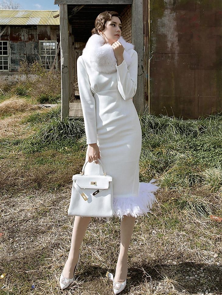 D3686 Creed Plum Dress