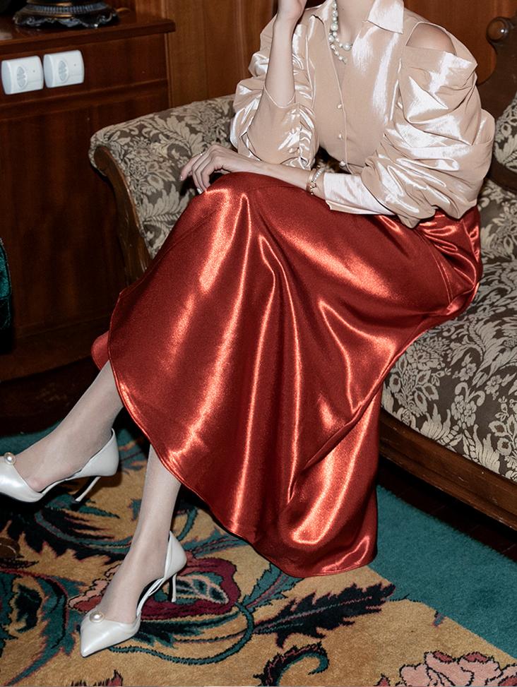 SK1987 Ronia Satin Skirt