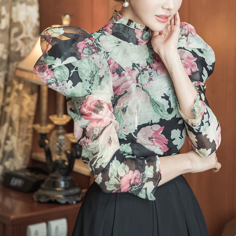 B2524 edish flower point blouse (3rd referer)