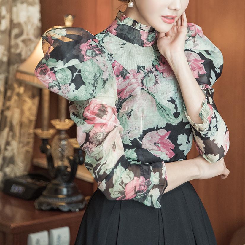 B2524 에디슈 플라워포인트 blouse(3rd REORDER)