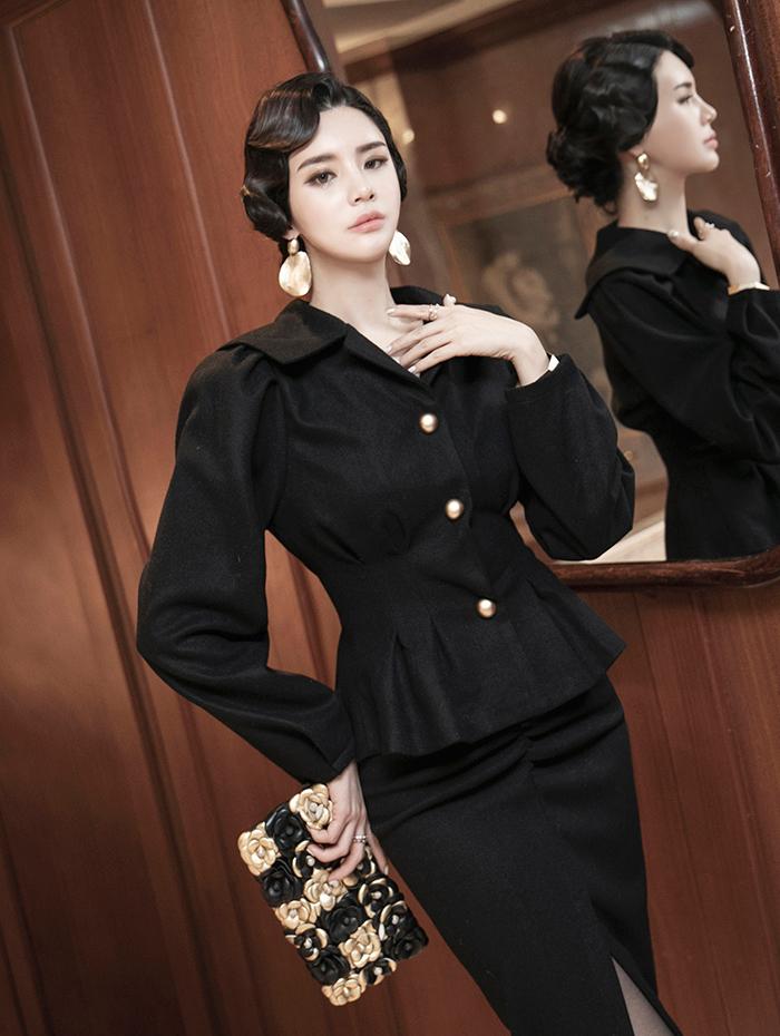 J860 Rihanna Gold Button Jacket * L size production * (6th order)