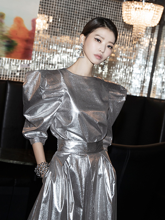 B9030 maxis wide coating blouse