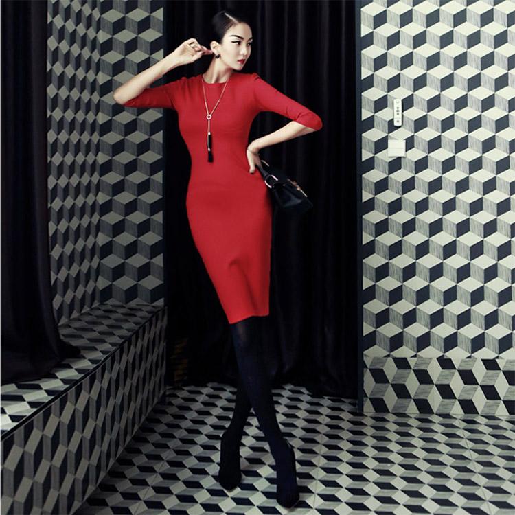 D2819 Eden Slim Dress * L size production * (220 reorder)