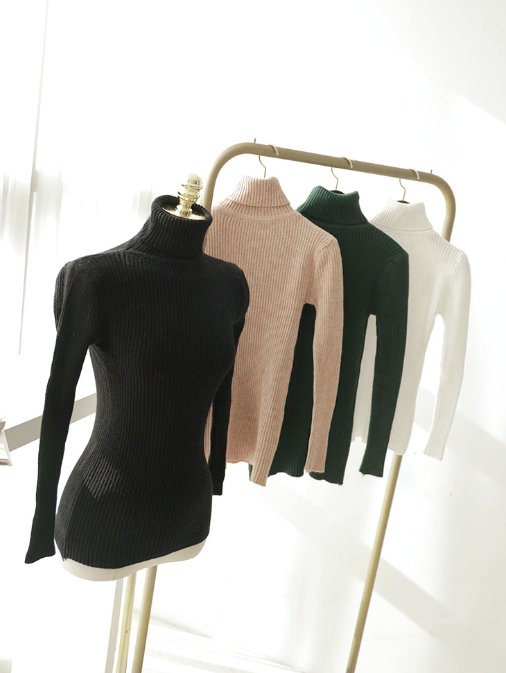 E2127 Merlin Basic turtleneck Top (27th REORDER)
