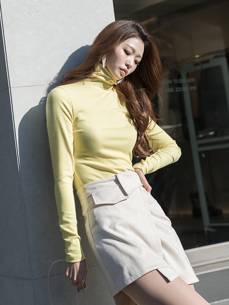 E2128 Tian Basic Color turtleneck Top (3rd REORDER)