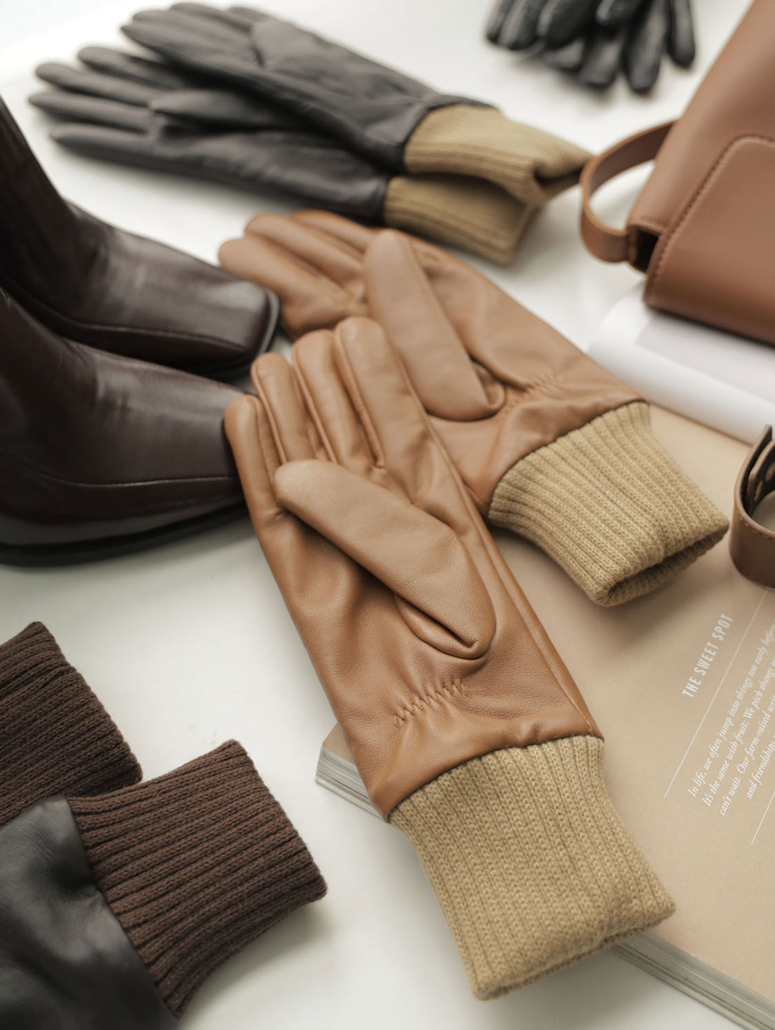 AH-140 Balance Leather shibori Gloves