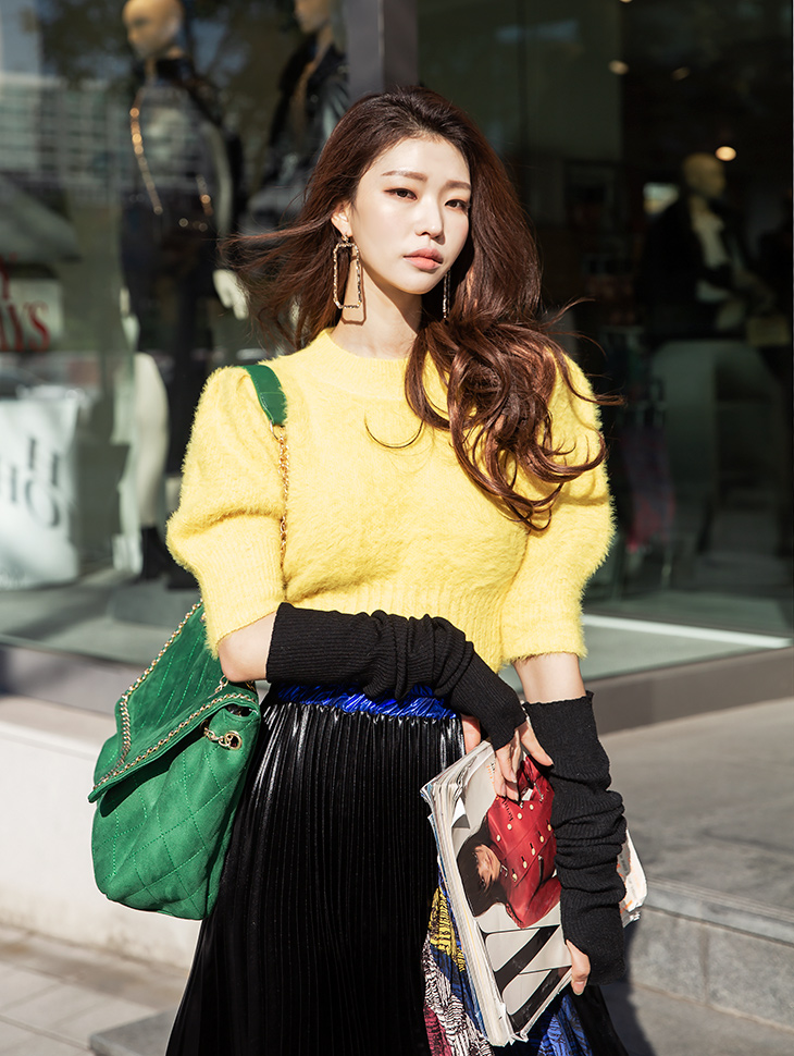 E2135 Simulation Half Sleeve Knit Top