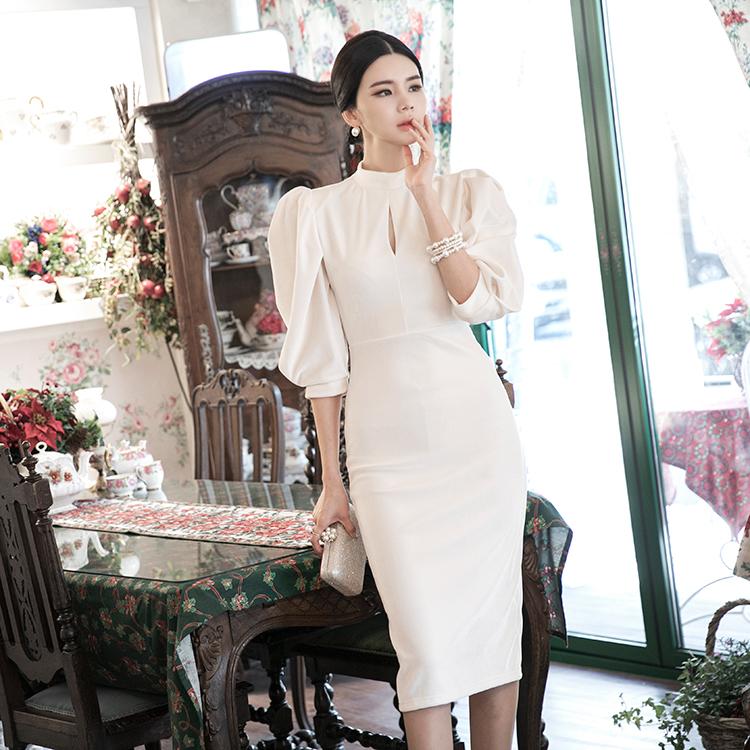 D3958 Ravielle velvet Slim Dress * L size production *