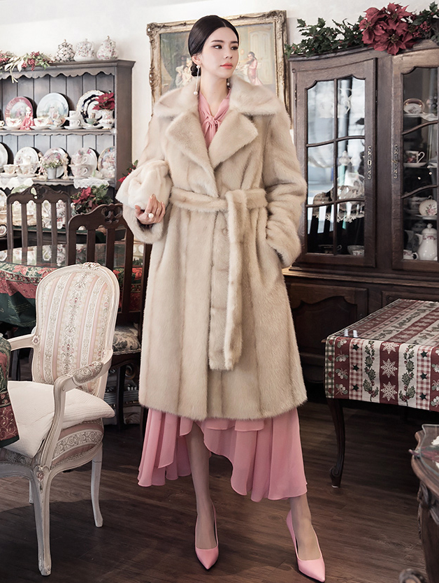 J881 Claude Fake Fur Coat (Belt SET)