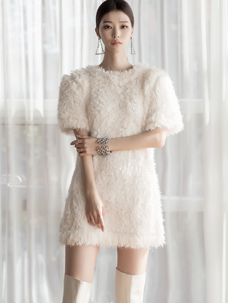 D3957 million Mini boucle Dress (3rd REORDER)
