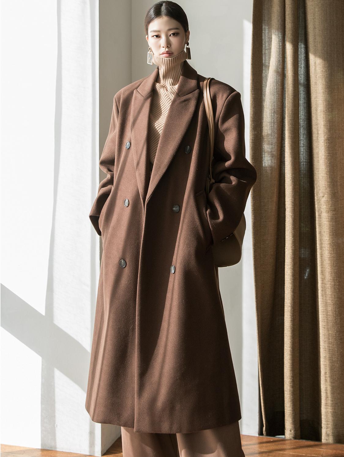 J866 in overfit wool Coat