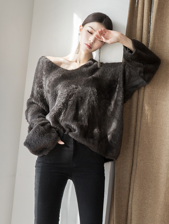 E2144 Metty Fur Loose wool Knit (3rd REORDER)