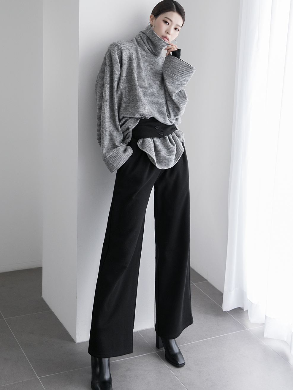 P2197 verdon slit wide napping pants