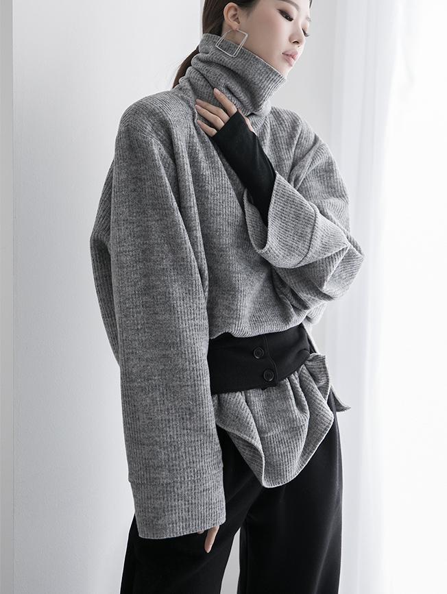 E2151 Bezis Knit turtleneck Top * Can be worn as a dress * (12th referer)