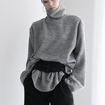 E2151 Bezis Knit turtleneck Top * Can be worn as a dress * (12th REORDER)